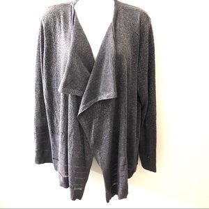 CALVIN KLEIN OPEN FRONT DRAPED CARDIGAN.SIZE XL
